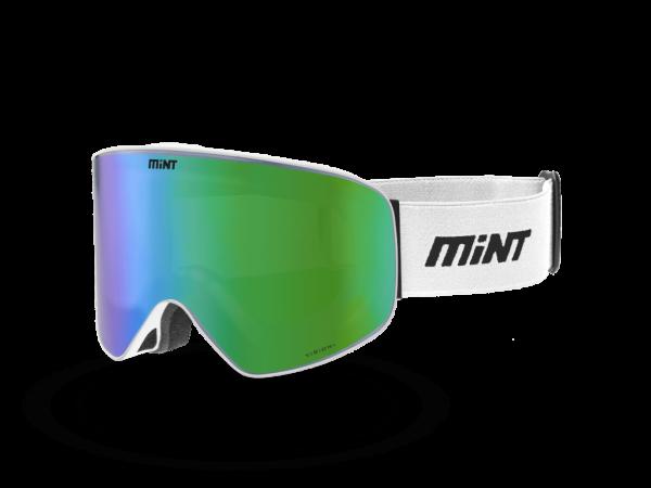 Mint-Sports White Green White Ski Glasses